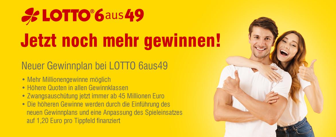 lottobay - neuer Gewinnplan für LOTTO 6aus49